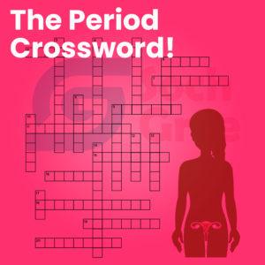 period tracker, period game, period crossword, period puzzle, menstruation game